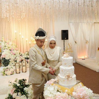 Kek Kahwin 3-Tingkat Designer
